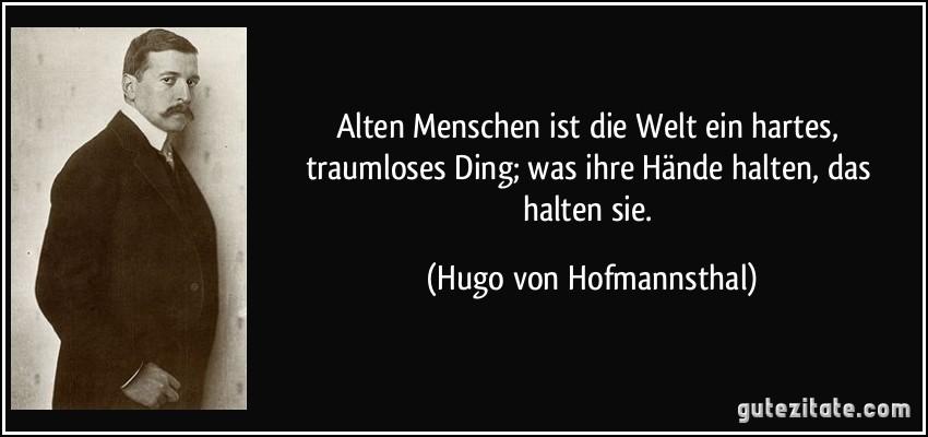 Was Ist Die Welt Hofmannsthal