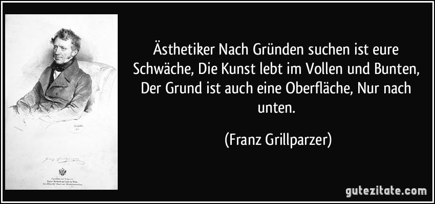 Franz Grillparzer aphorismen