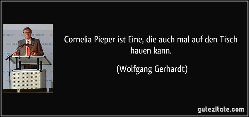 Cornelia Pieper Ist Eine Die Auch Mal Auf Den Tisch Hauen Kann