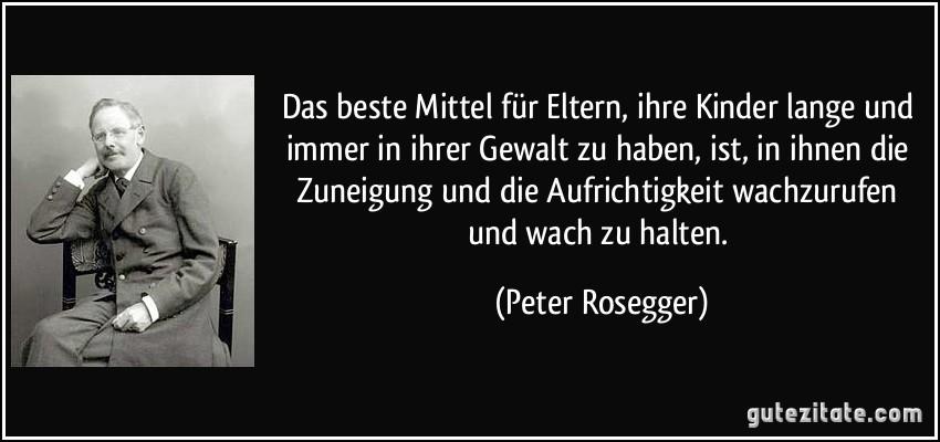 Peter Rosegger eltern