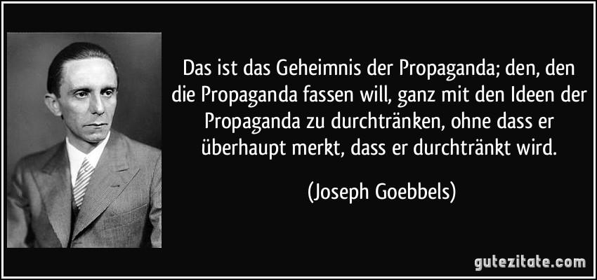 Goebbels Zitate