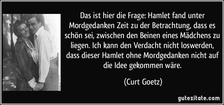 Zitate Aus Hamlet Deutsch