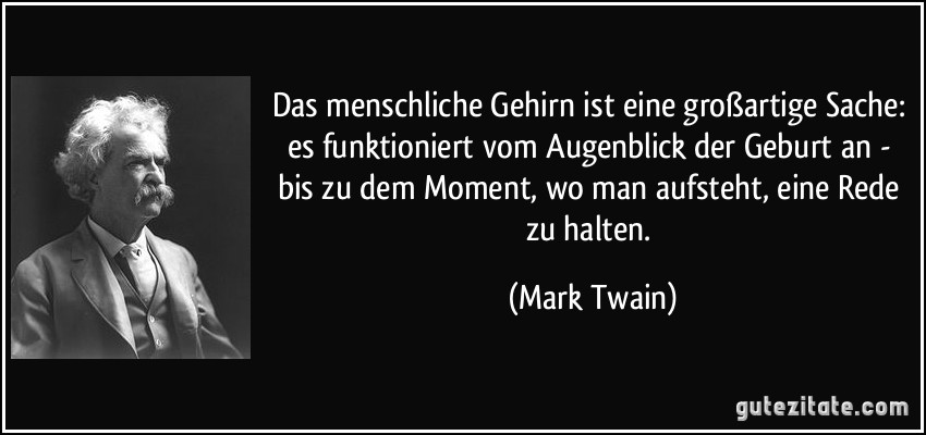 Mark Twain Zitate Das Gehirn