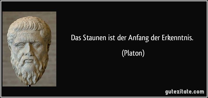Das Staunen Ist Der Anfang Der Erkenntnis Platon