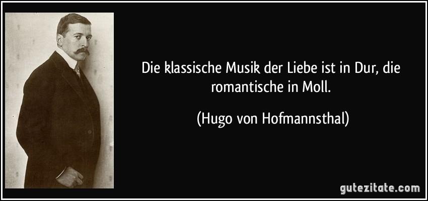 Klassische Musik Der Liebe Ist In Dur Romantische In Moll Hugo