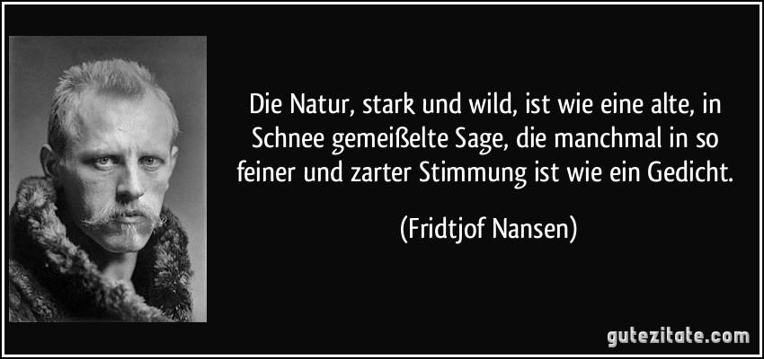 Die natur stark und wild ist wie eine alte in schnee for Schnee zitate