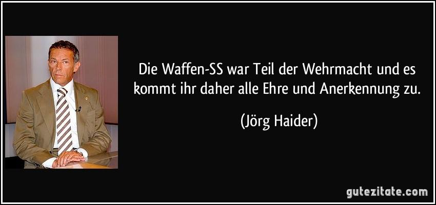 Die Waffen Ss War Teil Der Wehrmacht Und Es Kommt Ihr Daher Alle