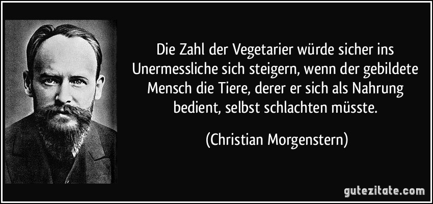 Christian Morgenstern vegetarier