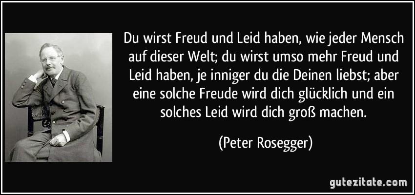 Peter Rosegger ein bisschen mehr freude