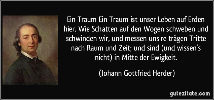 Johann Gottfried Herder ein traum