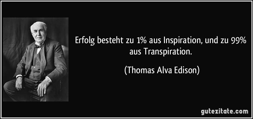 1 inspiration und 99: