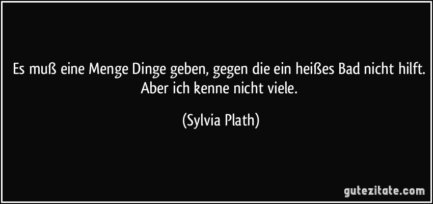 Briefe Nach Hause Sylvia Plath : Es muß eine menge dinge geben gegen die ein heißes bad