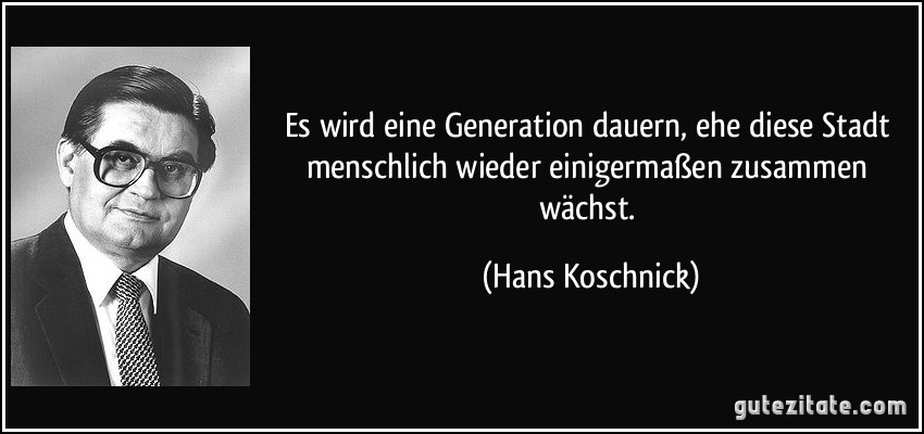 No Thread For Hans Koschnick Let S Remedy That Asap R I P