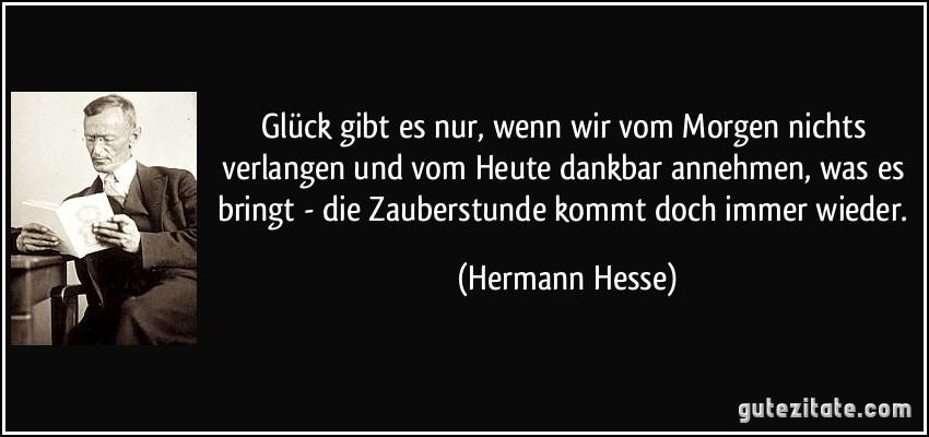 Zitate Glück Hermann Hesse