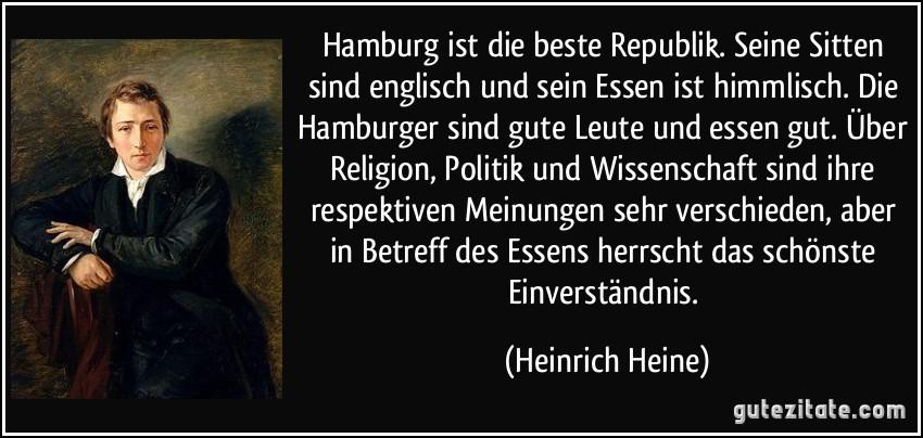 Hamburg Ist Die Beste Republik Seine Sitten Sind Englisch