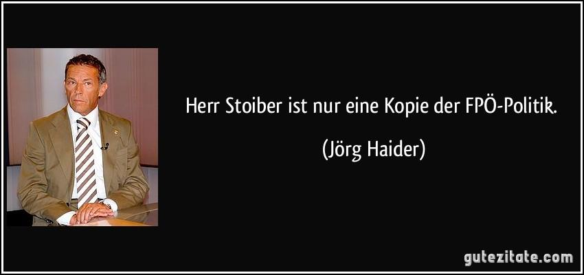 Herr Stoiber Ist Nur Eine Kopie Der Fpö Politik