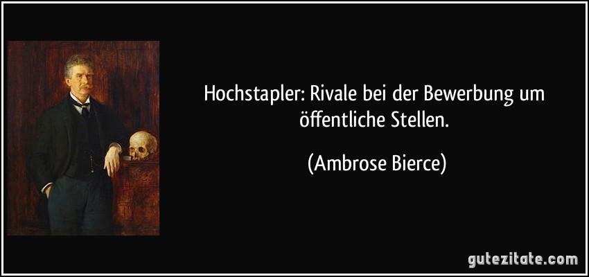 Hochstapler: Rivale Bei Der Bewerbung Um Öffentliche Stellen.