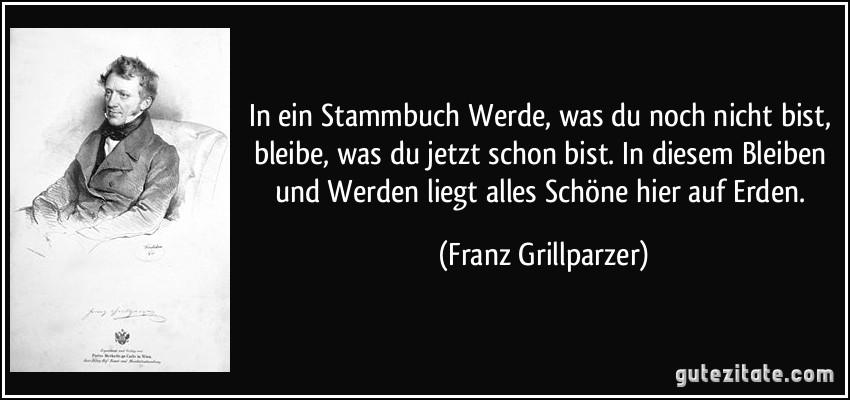 Franz Grillparzer stammbuch