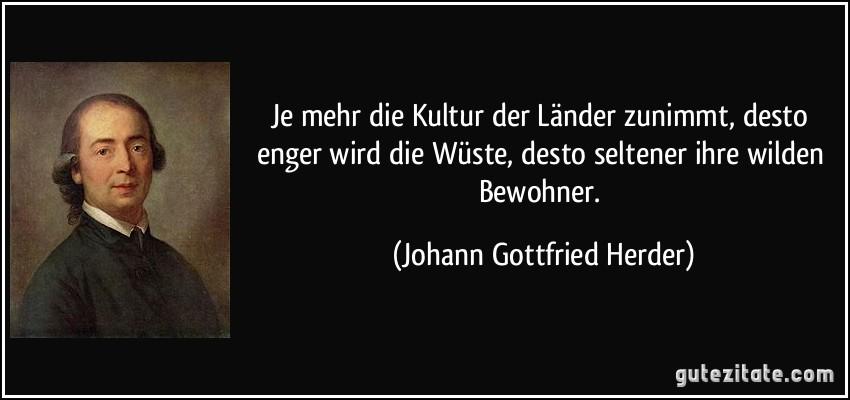 Johann Gottfried Herder kultur