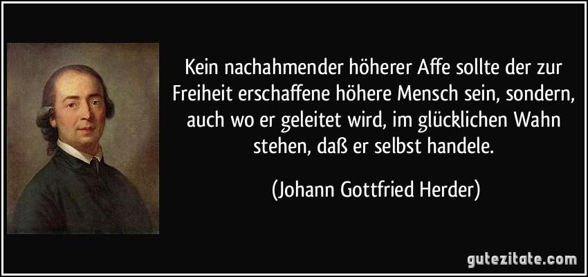 Johann Gottfried Herder freiheit