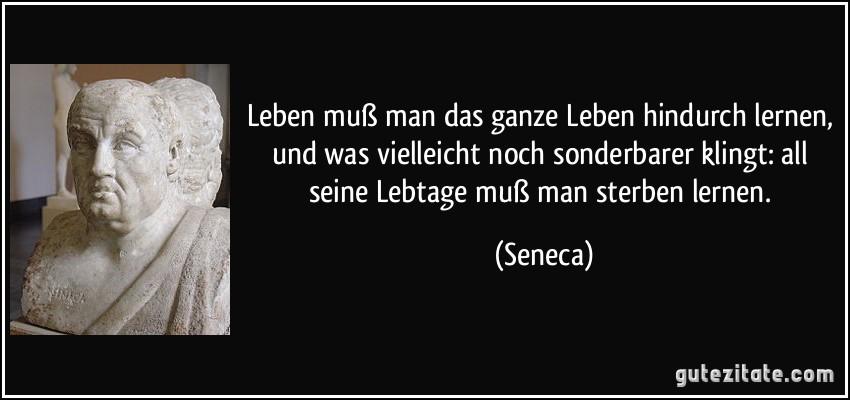 Seneca Zitate Lernen Zitate über Das Leben