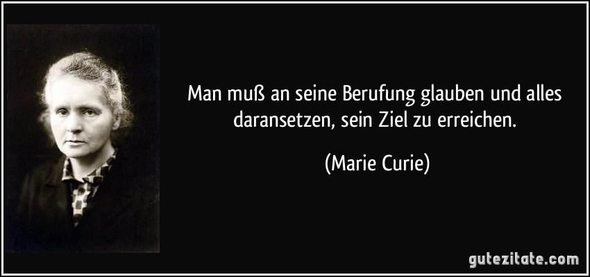 zitate vom leben: Zitate Marie Curie