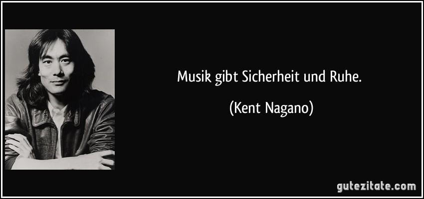Musik gibt sicherheit und ruhe for Zitat sicherheit