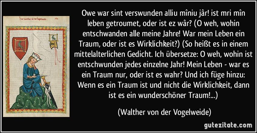 Walther von der Vogelweide owe