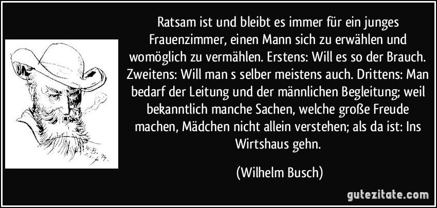 Zitat Glück Wilhelm Busch | zitate und sprüche leben