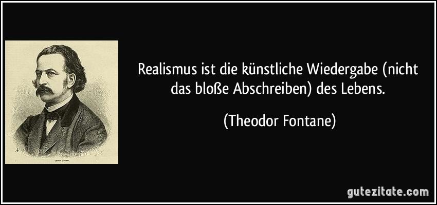 Theodor Fontane zitate realismus