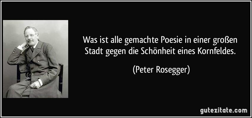 Peter Rosegger poesie