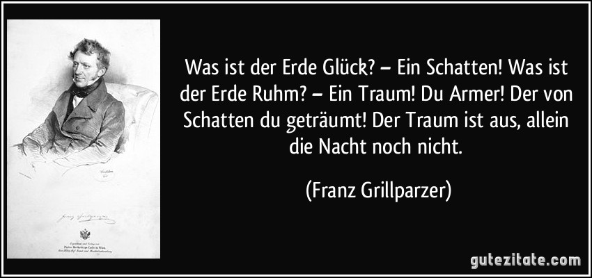 Franz Grillparzer der traum ein leben