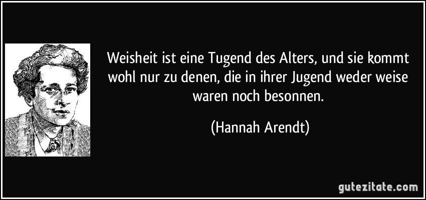 Hannah Arendt Zitate