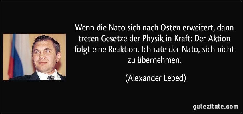 Wenn die Nato sich nach Osten erweitert, dann treten