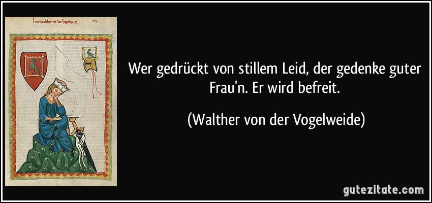 Walther von der Vogelweide frau