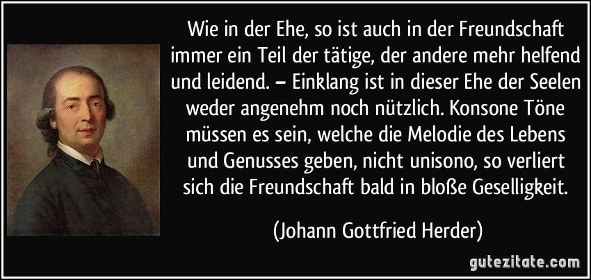 Johann Gottfried Herder nichts verliert sich