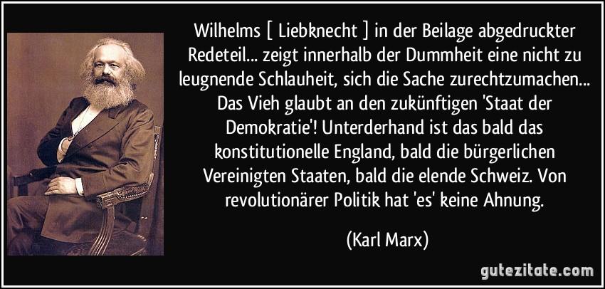 Karl Liebknecht Zitate