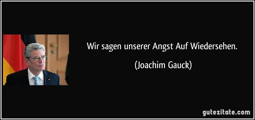 Gauck Zitate