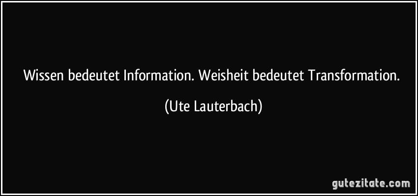 Zitat Information