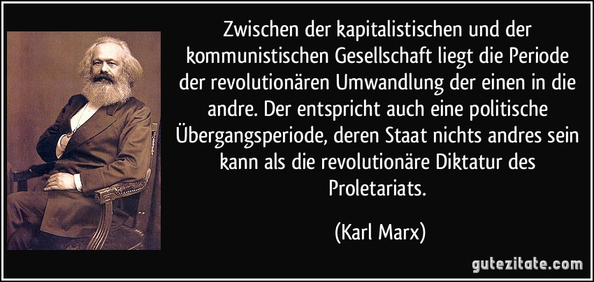 Karl Marx Zitat